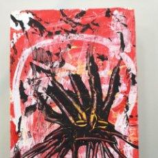 Arte: OBRA DE ARTE ORIGINAL STEVEN MANLEY ACRÍLICO SOBRE MADERA PEQUEÑO FORMATO RETRATO NEOEXPRESIONISMO. Lote 296612348