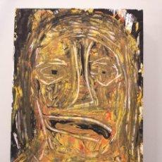 Arte: OBRA DE ARTE ORIGINAL STEVEN MANLEY ACRÍLICO SOBRE MADERA PEQUEÑO FORMATO RETRATO NEOEXPRESIONISMO. Lote 296612398