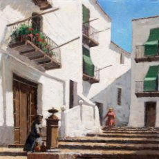 Arte: MIQUEL CARBONELL MASSABE (1928 - ??) OLEO SOBRE TELA. IBIZA. Lote 296912863