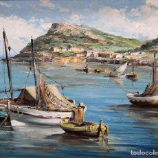 Arte: VICTORIANO BERBEGAL CAPELO (CALDES DE MALAVELLA, 1925) OLEO SOBRE TELA. MARINA. Lote 296913238
