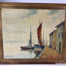 Arte: B-1025. OLEO SOBRE LIENZO, PAISAJE. GINO KAROLY. S.XX.. Lote 297042483