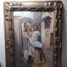 Arte: OLEO SOBRE BASTIDOR XIX PELEGRI TALARN ,HIJO DE DOMENEC TALARN ,ESCULTOR PESSEBRISTA. Lote 297083038