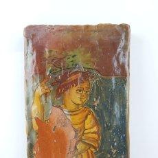 Arte: FRAGMENTO PINTADO DEL S.XVIII. NIÑO O SANTO. ITALIA. Lote 297107528