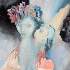 Arte: JOAN LABORDA (ALELLA, BARCELONA, 1954) OLEO SOBRE TELA DEL AÑO 1977. MATERNIDAD. Lote 297152938