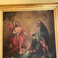 Arte: ÓLEO RELIGIOSO CUADRO ANTIGÜEDADES. Lote 297178013