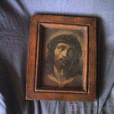 Arte: PINTURA DE CRISTO SOBRE METAL. SIGLO XVII. MED. 18 X 14,2 CM.. Lote 3641834