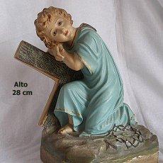 Arte - MAGNIFICO NIÑO JESUS DE OLOT CON LA CRUZ - 56253688