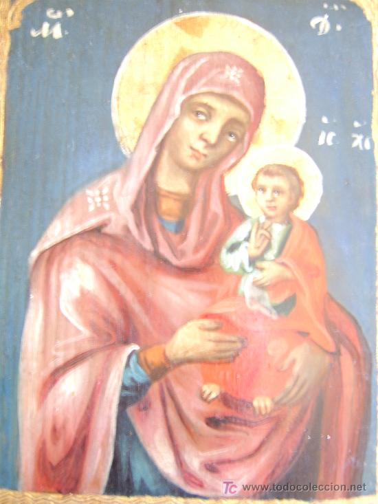 Arte: ICONO ORTODOXO RUSO.1860 - Foto 2 - 12112580