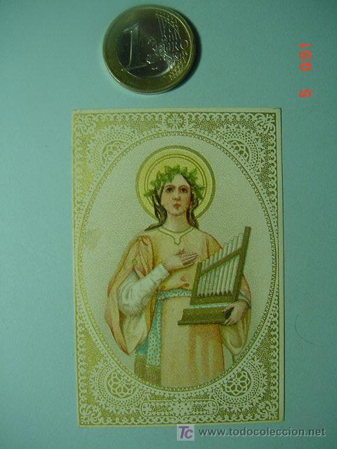 503 ESTAMPA ESTAMPITA SANTA AÑOS 1900 - MAS DE ESTE TIPO EN MI TIENDA COSAS&CURIOSAS (Arte - Arte Religioso - Escultura)
