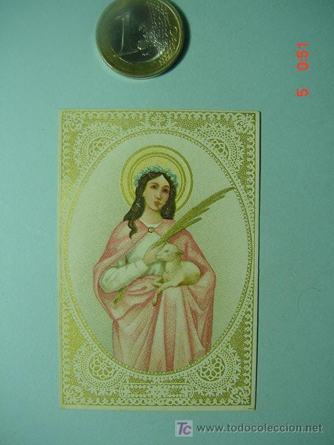 504 ESTAMPA ESTAMPITA SANTA AÑOS 1900 - MAS DE ESTE TIPO EN MI TIENDA COSAS&CURIOSAS (Arte - Arte Religioso - Escultura)