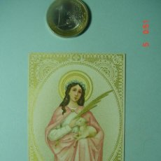 Arte: 504 ESTAMPA ESTAMPITA SANTA AÑOS 1900 - MAS DE ESTE TIPO EN MI TIENDA COSAS&CURIOSAS. Lote 6011175