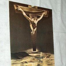 Arte: LÁMINA DE CRISTO CRUCIFICADO. BELLO COLORIDO.. Lote 7193969