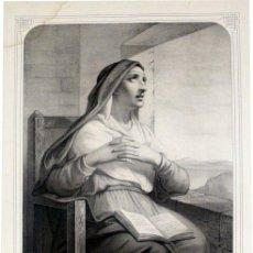 Arte: GRABADO LITOGRÁFICO - SANTA MÓNICA - L. TURGIS - PARÍS - PP. S. XX. Lote 5984580