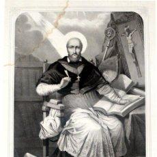 Arte: GRABADO LITOGRÁFICO - SAN FRANCISCO DE SALES - L. TURGIS - PARÍS - PP. S. XX. Lote 15285311