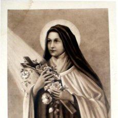 Arte: GRABADO LITOGRÁFICO - LA PEQUEÑA FLOR DE JESÚS - FDO. E. H. B - PP. S. XX. Lote 5986284