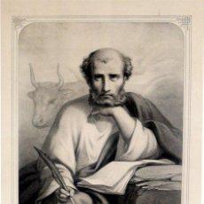 Arte: GRABADO LITOGRÁFICO - SAN LUCAS EVANGELISTA - FDO. LASNIER - L. TURGIS - PARÍS - PP. S. XX. Lote 27592065