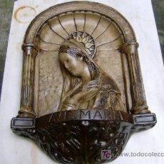 Arte: ANTIGUA FIGURA - INMACULADA - EN YESO ESTUCADO - CIRCA APROX 1940/50 - LIMPIA + INFO. Lote 12707561