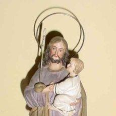Arte: SAN JOSE, ANTUGUA ESCULTURA DE SAN JOSE CON EL NIÑO JESUS -OLOT AÑOS 50 -TIENE UNA EXPRESIÓN. Lote 26854427