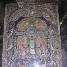 Arte: GRABADO RECORTADO, COLOREADO Y BORDADO S.XVIII, NTRA.SRA. DE LA MERCE DE BARCELONA. Lote 26406438