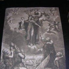 Arte: GRABADO RELIGIOSO PRINCIPIOS S.XIX, LA VIRGEN SANTA MARIA DE LOS REMEDIOS. Lote 54735813