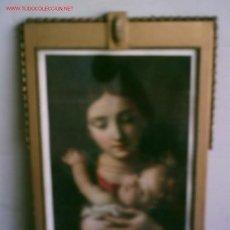 Arte: CUADRO VIRGEN .. MARCO DE MADERA ESTUCADA. Lote 22338765