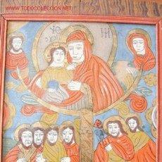 Arte: BELLO ICONO PINTADO EN CRISTAL. VIRGEN CON NIÑO.TRANSILVANIA. FINALES XIX. Lote 12112570