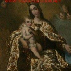 Arte: IMPRESIONANTE OLEO VIRGEN DEL CARMEN S XIX PIEZA DE ALTA COLECCION. Lote 25215117