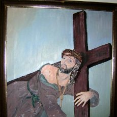 Arte: PRIMERA CAIDA DE JESUSCRISTO,, (THE FIRST FALL OF JESUS),, 50 X 41 CM.. Lote 27366721