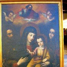 Arte: PINTURA ESPAÑOLA SIGLO XVII. LA SAGRADA FAMILIA. CERTIFICADO. NUEVO PRECIO.. Lote 4343779