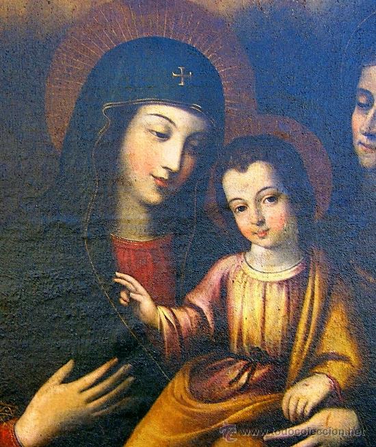 Arte: PINTURA ESPAÑOLA SIGLO XVII. LA SAGRADA FAMILIA. CERTIFICADO. NUEVO PRECIO. - Foto 2 - 4343779