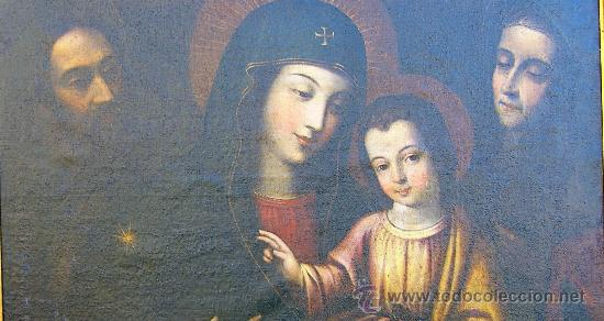 Arte: PINTURA ESPAÑOLA SIGLO XVII. LA SAGRADA FAMILIA. CERTIFICADO. NUEVO PRECIO. - Foto 3 - 4343779