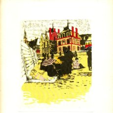 Arte: MAURICE BRIANCHON. TROUVILLE, LITHOGRAPHIE. 28,5 X 22 CM TAMAÑO HOJA. Lote 43838694