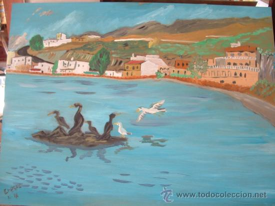 LANCE DE LA VIRGEN , ÓLEO SOBRE MADERA ,70X60 APROX. DE CRESPO (Arte - Arte Religioso - Pintura Religiosa - Oleo)