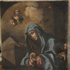 Arte: PINTURA RELIGIOSA, TELA ANTIGUA S.XVIII POR RESTAURAR, 75 X 106 CM.. Lote 25842089