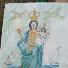 Arte: VIRGEN DEL MAR DE ADRA (ALMERÍA) 33X44 CM. APROX. ÓLEO /LIENZO BASTIDOR DE CRESPO. Lote 16118311