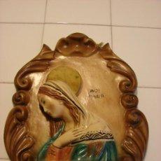 Arte: FIGURA ANTIGUA DE VIRGEN EN ESCAYOLA. Lote 27252964