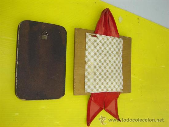 Arte: 2 cuadros en madera y lamina religioso - Foto 2 - 13853724