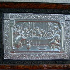 Arte: SANTA CENA METÁLICA. Lote 18400659