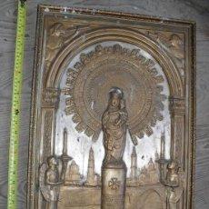 Arte: RARO Y ANTIGUO GRABADO METALICO VIRGEN DEL PILAR . Lote 18599429