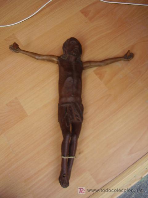 CRISTO EN MADERA TALLADA (Arte - Arte Religioso - Escultura)