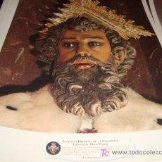 Arte: LAMINA 40 X 29 GRUESA,SAGRADO DECRETO DE LA SANTISIMA TRINIDAD . DIOS PADRE. Lote 16016763