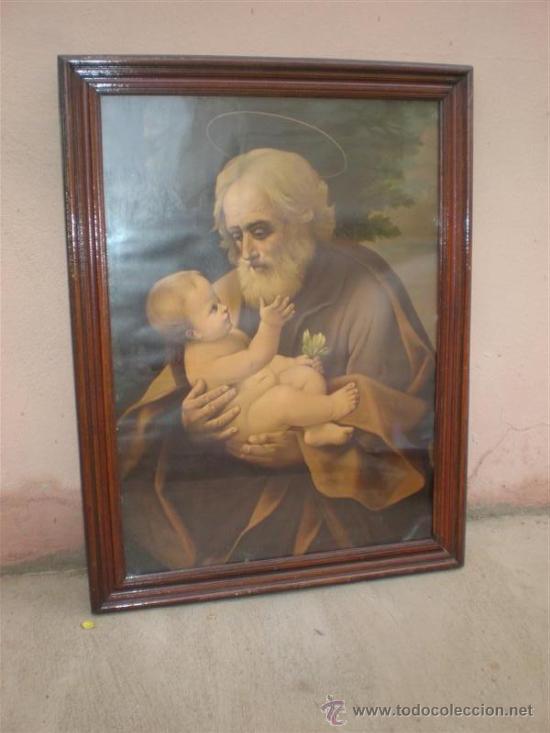 LAMINA ANTIGUA SAN ANTONIO Y MARCO (Arte - Arte Religioso - Pintura Religiosa - Otros)