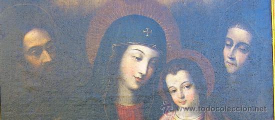 Arte: PINTURA ESPAÑOLA SIGLO XVII. LA SAGRADA FAMILIA. CERTIFICADO. NUEVO PRECIO. - Foto 5 - 4343779