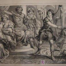 Arte: S.XIX - GRABADO LITOGRAFICO ORIGINAL - SAUL Y DAVID - CHENU - ALTA CALIDAD. Lote 25218721