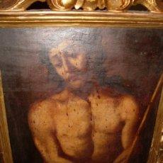 Arte: CUADRO 'ECCE HOMO' DEL SIGLO XVII EN OLEO SOBRE MADERA. Lote 18881545