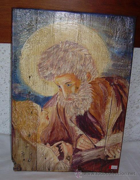 PRECIOSO RETABLO DE SAN MIGUEL, PINTADO SOBRE TABLA (Arte - Arte Religioso - Retablos)