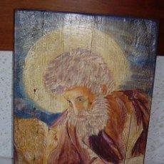 Arte: PRECIOSO RETABLO DE SAN MIGUEL, PINTADO SOBRE TABLA. Lote 27309838