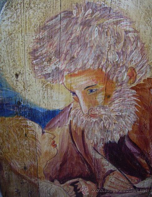 Arte: PRECIOSO RETABLO DE SAN MIGUEL, PINTADO SOBRE TABLA - Foto 2 - 27309838