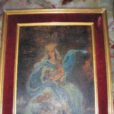 Arte: VIRGEN CON NIÑO - OLEO SOBRE TABLA 40 X 30 CMS - MARCO 50 X 40 CMS. Lote 26943398