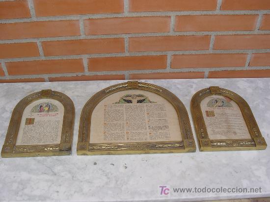 Arte: SACRAS RELIGIOSAS TRIPTICO. BRONCE. ART DECÓ. 1920´S. TEXTO LITURGICO - - Foto 10 - 102716403